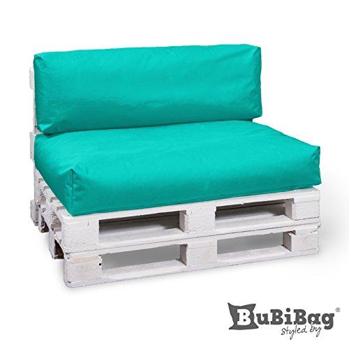 BuBiBag Palettenkissen Sitzkissen Sitzauflage In & Outdoor, Diverse Farben zur Auswahl & viele...