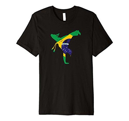 Fahne/Flagge Brasilien Capoeira-T-Shirt