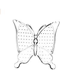 Forma de mariposa de acrílico Pendientes soporte de exhibición Almacenamiento Ear Studs Jewelry Rack (transparente)