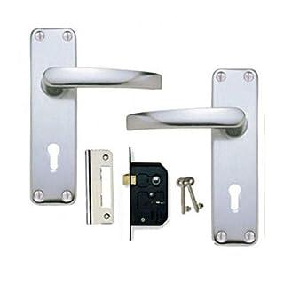 Aluminium SAA Lever Lock Door Handles +2 Lever Lock Set 2 keys (KA)
