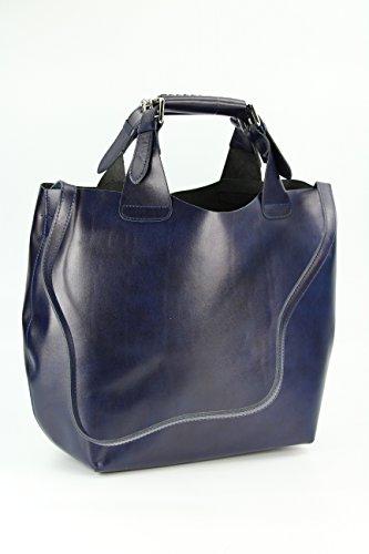 Belli, Borsa shopper donna, Blu (blu), 41x32x15 (B x H x T)