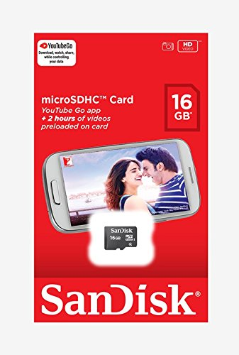 SanDisk 16 GB microSD Class 4 Memory Card (SDSQBNN-016G-GO3IN)
