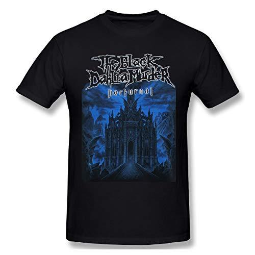 QmatSet Black Dahlia Murder The Mens Nocturnal Herren Klassisch T-Shirt Black XL (Black Dahlia Kostüm)