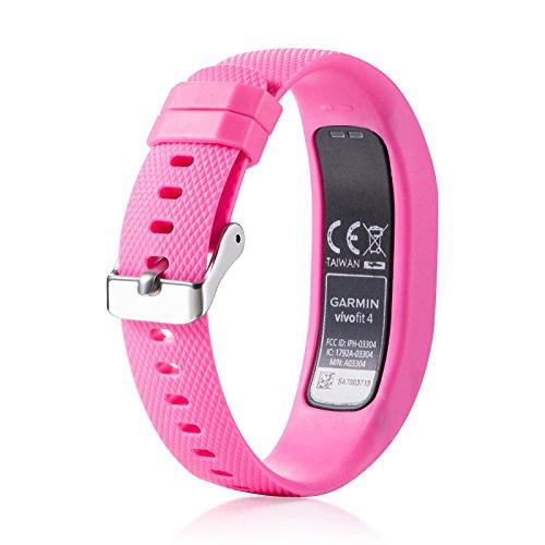 Bemodst Armbanduhr Armband für Garmin Vivofit 2, Zubehör für Ersatz-Silikon-Sport-Armband mit Riemen, verstellbar Watchband für Garmin Vivofit 2, Fitness Tracker, für kleine/große Größen, rose, S