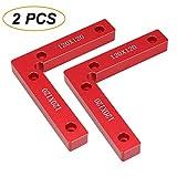 Posicionamiento Cuadrados 90 grados, ángulo recto abrazadera soporte carpintería herramienta, 4.7' x 4.7' aleación de aluminio L-Type abrazadera de esquina para caja, puerta, marcos de fotos