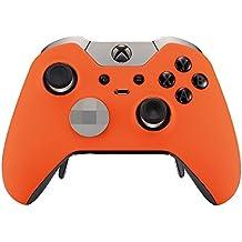 eXtremeRate Funda Carcasa Frontal Cubierta Shell Superior Antideslizante Material Esmerilado para Mando inalambrico Xbox One Elite (Naranja)
