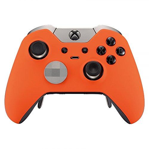 eXtremeRate Xbox One EliteSchutzhülle Case Obere Hülle Cover Oberschale Gehäuse Skin Schale für Xbox One Elite Controller(Orange)