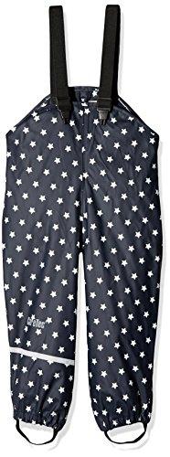 CareTec Kinder Regenlatzhose, wind- und wasserdicht (verschiedene Farben), Blau (Navy stars), 92