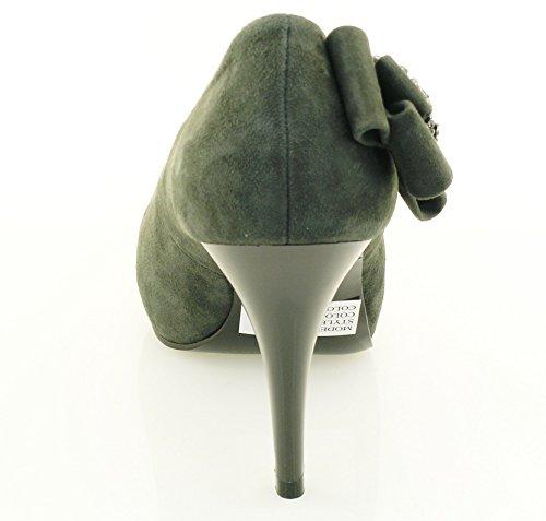 ROBERTO BOTELLA - Chaussures pointe découvertes ornées gray