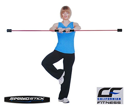 Californian Fitness Trainingsset Swingstick +DVD +Anleitung 162cm Schwingstab Flexistab Schwungstab, Farbe:blau