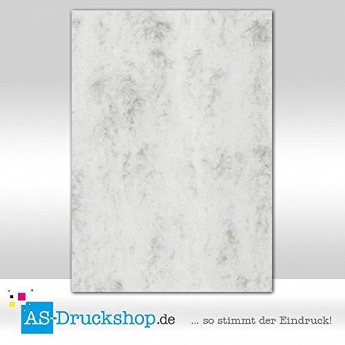 Farbiges Papier / Schreibpapier - Grau marmora / 25 Blatt / DIN A4 / 160 g-Papier