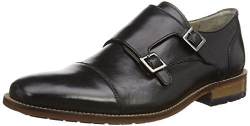 Clarks Penton Monk, Derby homme Noir (Black Leather)