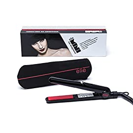 elie hs-039 mini - 41Akh402pJL - Elie HS-039 Mini Travel Straightener, Dual Voltage, Mini Hair Straighteners For Short Hair, Travel Curling Iron, Small Flat Iron Hair Straightener (Red)