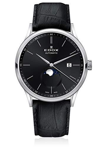 Edox Orologio da polso da uomo Les Vauberts La Grande Lune Data Luna Analogico automatico 80500 3 NIN