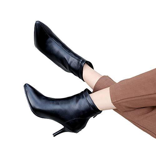 TianWlio Stiefel Frauen Herbst Winter Schuhe Stiefeletten Boots Spitze Zehen Schuhe Seitlicher...