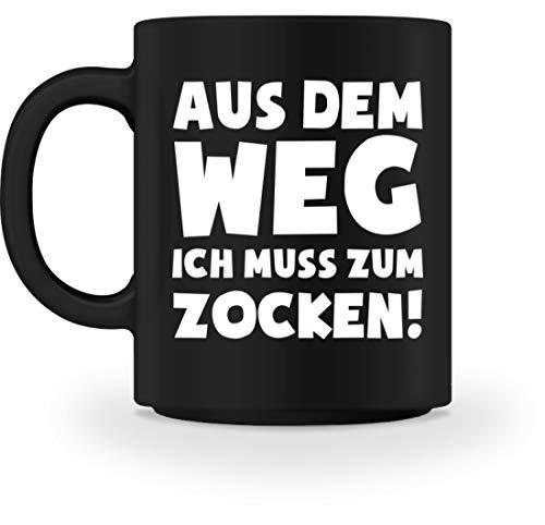 shirt-o-magic Gamer Zocker: Ich muss zocken! - Tasse -M-Schwarz -