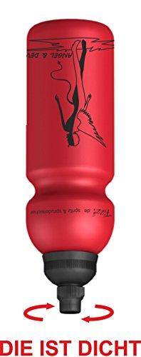 Fizzii 600 ml ANGEL & Devil, Plastic drinks Bottle Leak-Proof, Non-Toxic, Dishwasher-Safe by Fizzii