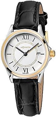 ساعة يد من ام واتش سويسرية بتصميم انيق دائم وبعرض انالوج ومينا باللون الابيض للنساء WRE.60210.LB