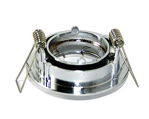 5 x Kleine LED Einbauleuchte Billy MR11 in chrom inklusive Fassung und 30er LED Leuchtmittel in warmweiss 12V -
