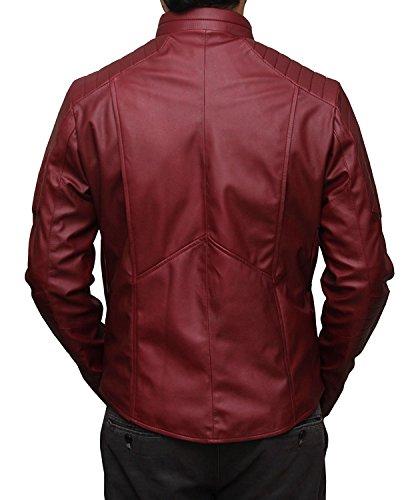 Flash Red Leather Shield Jacket - Veste de protection rouge en cuir rouge Rouge