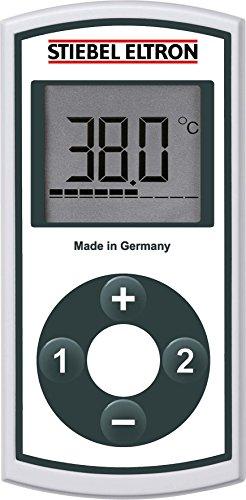 Stiebel Eltron FFB 4 EU, für Komfort-Durchlauferhtitzer, großes LC-Display, stufenlose Temperaturwahl, als weitere Funkfernbedienung, 234478, weiß, 1