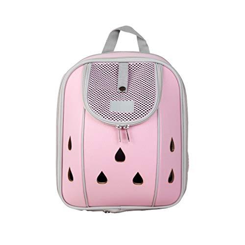 JIANXIN Haustierrucksack, Tierkäfig, Tragbarer Rucksack, Haustierrucksack, Haustierbeutel (Farbe : Pink, größe : S)