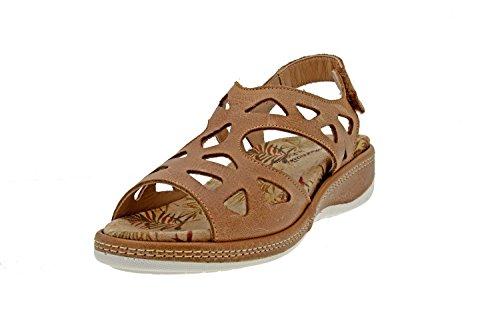 Piesanto Couro Sandália Mulheres 8905 Confortavelmente Bege De Palmilhas Ampla Velcro vison Conforto Sapato De Removíveis pp1CwS