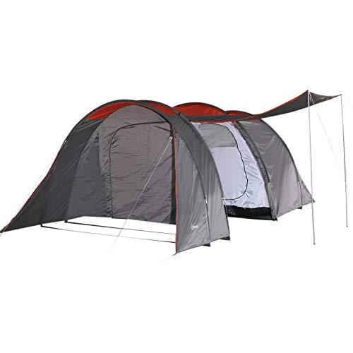 Outsunny Tenda da Campeggio per 6 Persone, Ventilata, Resistente e Impermeabile in Metallo, Blu, 500 x 320 x 195 cm