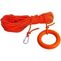Naliovker LíNea de Vida Flotante en el Agua, Equipo para Salvar Vidas, Cuerda de Seguridad para EsnóRquel con Gancho y Lazo, Accesorios para Piscinas