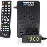 Anadol ADX HD 333 Mini HD HDTV digitaler Multistream Satelliten-Receiver (HDTV, DVB-S2, HDMI, 2X USB 2.0, Full HD 1080p, Youtube) [vorprogrammiert für Astra Hotbird Türksat ] – Schwarz