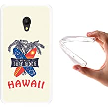 Funda Alcatel Pixi 4 5.0 3G, WoowCase [ Alcatel Pixi 4 5.0 3G ] Funda Silicona Gel Flexible Hawaii Big Waves Surf Rider, Carcasa Case TPU Silicona