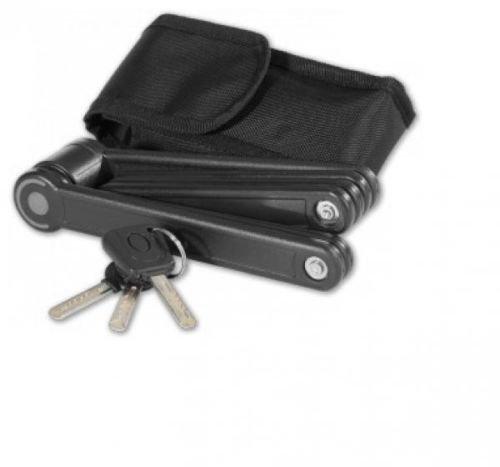 Faltschloss Fahrradschloss schwarz ca. 85cm Schlüssel mit LED Beleuchtung