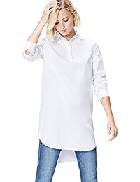FIND Camicia Lunga Donna in Cotone
