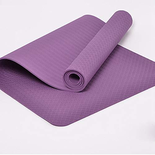 GSKTY Yoga-Matte Lang Schöne Sicher Griffige Yoga-Matte Fitness-Übungs-Sport im Freie 173 * 61 * 0.6cm