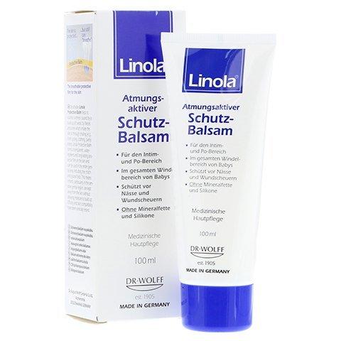 Linola atmungsaktiver Schutzbalsam Spar-Set 2x100ml; für den Intim-Po-Bereich, auch für babys; ohne Mineralfette und Silikone