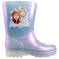Frozen 2 Girls Wellingtons Disney Slip On Wellies Rubber Anna & Elsa UK 6-12