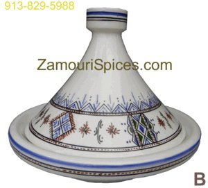 Tagine Serving Moorish Blue Med 25cm from Zamouri Spices, an Elbertai Company LLC