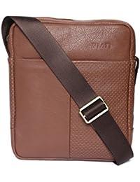 Viari Tan Leather Crossbody Bag