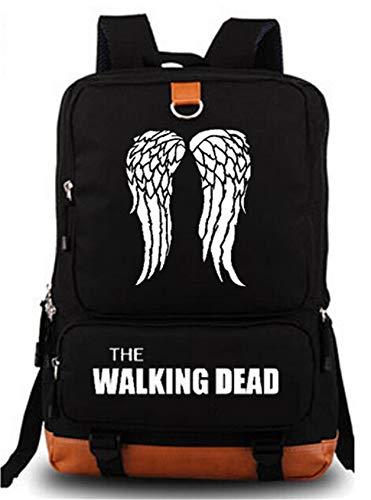 Schulranzen Daypack Book Bag Laptop Tasche Rucksack für The Walking Dead Cosplay schwarz schwarz 1 Medium ()