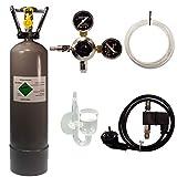 Guemmer products CO2 Anlage Komplettset für Aquarien mit Nachtabschaltung und Rückschlagventil (Profi, 2Kg)