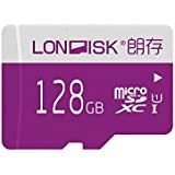 LONDISK 128GB Mirco SD Card Class 10 UHS-1 Micro SDXC Memory Card With SD Adapter For HD Video Play(U1 128GB)