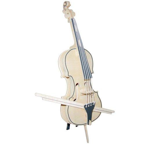 ETNA Ilawa Violoncello 3D Holzbausatz Musikinstrument Holz Steckpuzzle Holzpuzzle Kinder G-PM003