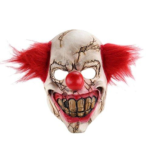 Fixuk Full Face Latex Maske Scary Clown Halloween Kostüm Übel creepy Party Horror (Mask Majora's Halloween Kostüm)
