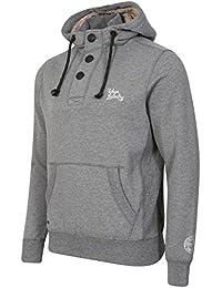 Tokyo Laundry - Sweat-shirt à capuche - Uni - Manches Longues - Homme gris gris Small