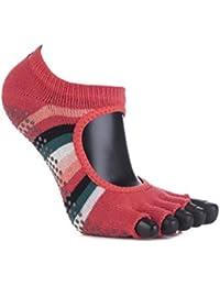 1 Paire Bella moitié Toe ToeSox femmes en coton bio Ouvrir avant yoga chaussettes Fiesta