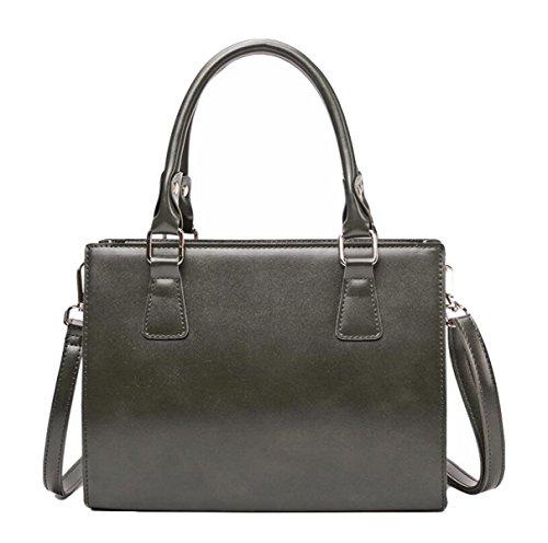 Frauen Handtasche Süßigkeiten Farbe Schulter Tasche Kleinen Quadratischen Paket Einfache Mode Metall Ziehen Kopf Grey
