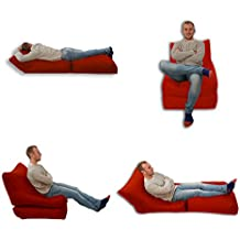 Puf cama silla rojo uso en exterior e interior tamaño Extra grande para videojuegos asiento XXXL resistente a la intemperie (resistente al agua)