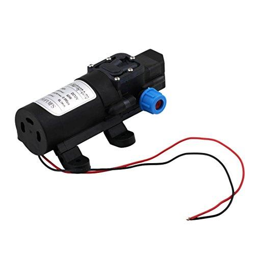 Dailyinshop DC 12 V 30 Watt 3L/Min Membran Wasserpumpe Selbstansaugende Eingebautes Rückschlagventil (Farbe: Schwarz)