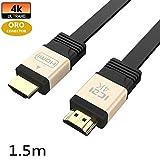 ICZI HDMI Kabel, ermöglicht 4k, 3D, HDR und High-Speed Ehernet, vergoldet, für Nintendo Switch, UHD & Full-HD Fernseher und Moni...