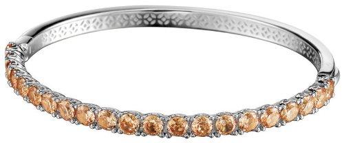 ESPRIT Collection Damen-Armreif 925 Sterling Silber rhodiniert Glas Zirkonia Idya Summer orange ELBA91044C600